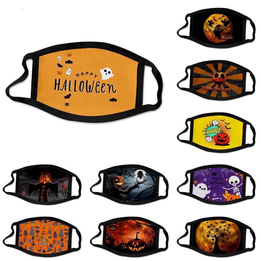 y Fábrica Fashion Face Halloween Máscaras Anti-niebla Lavable Niños Adultos Abarcadero Hielo Seda Transpirable Polvo Mascarilla 6 PNMDV