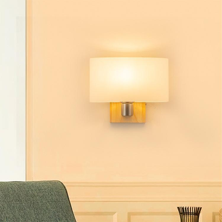 Lámpara de pared de noche de dormitorio nórdicos hotel de europeo LED lámpara Americana sala de estar Sólida madera escalera Corredor Hotel