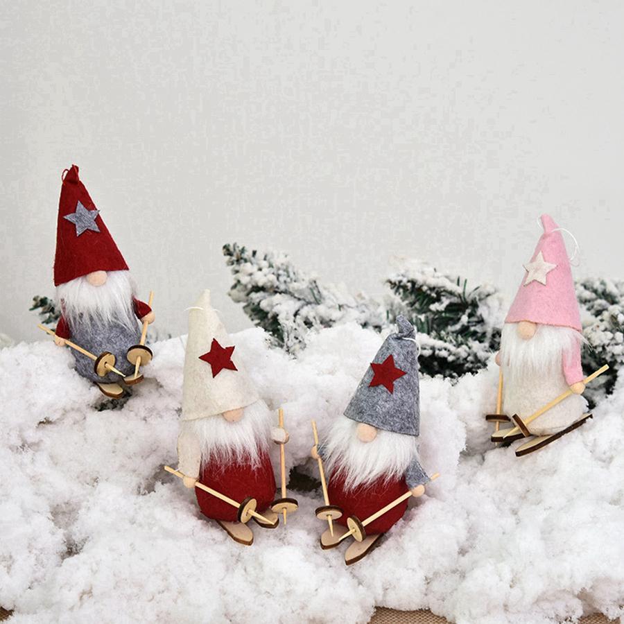2020 Accesorios Decoración de la muñeca linda de la Navidad de Santa Claus Navidad de la muñeca del árbol colgante decoración casera creativa de la muñeca colgante RRA3822