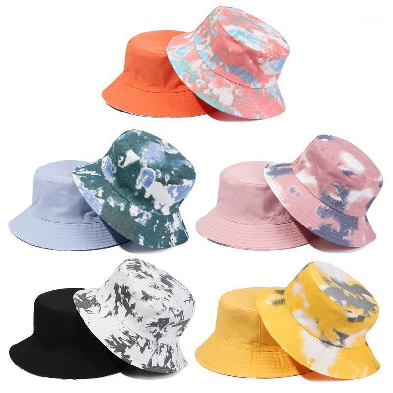Amplia sombreros de ala de las mujeres moda retro mezclilla lavado cubeta sombrero algodón plegable pescador gorra hombres al aire libre protector solar pesca Playa de caza Cap1