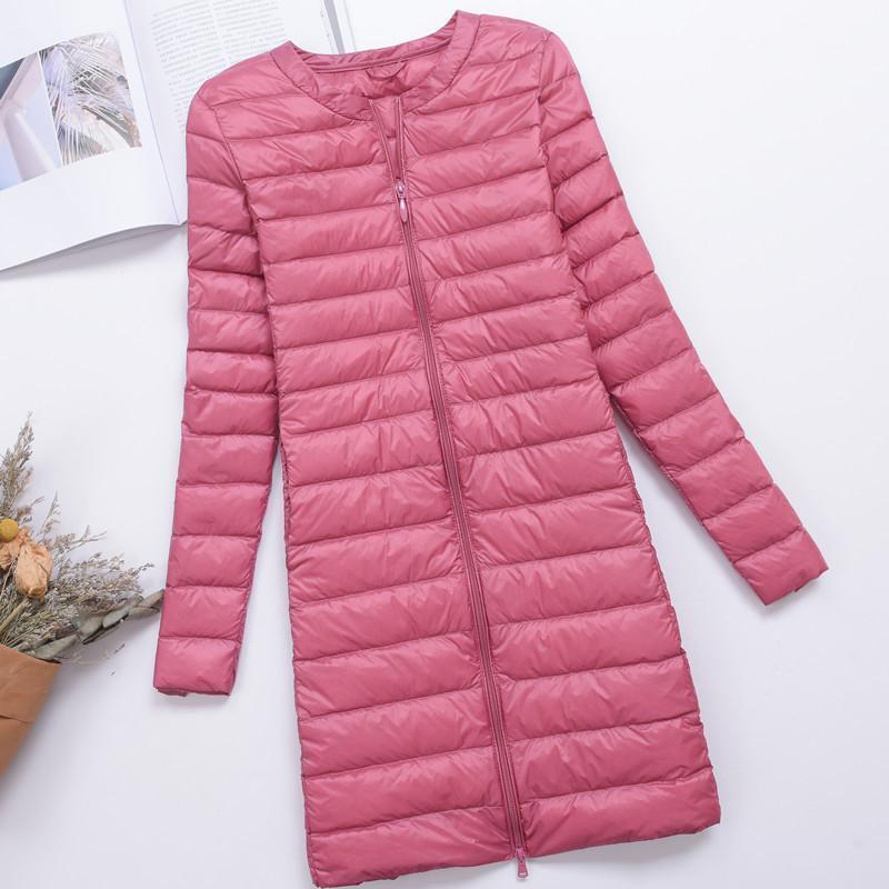 2018 женщины белый утка вниз куртка осень зима ультра светлое длинное пальто пальто parka дама тонкие уплотнительные топы плюс размер 4xl ab10911