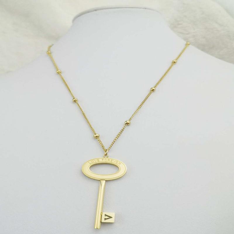 Collana Gioielli in acciaio inox Nuova Dea Luxury Golden Color Luxe Moda per le donne Key Vendita calda