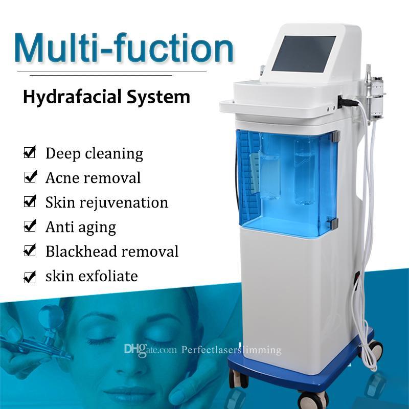 5 в 1 Профессиональный гидрофаксиальный микродермабрюзионный кислородный станок для удаления морщин для очистки кожи скруббер