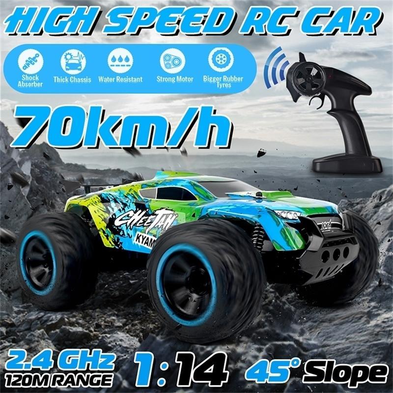 2WD 1/14 Пульт дистанционного управления Автомобиль Удаленный Off-Road Racing Car 2.4 ГГц Гусеничный Электрический Гигантский Грузовик Автомобиль 201218