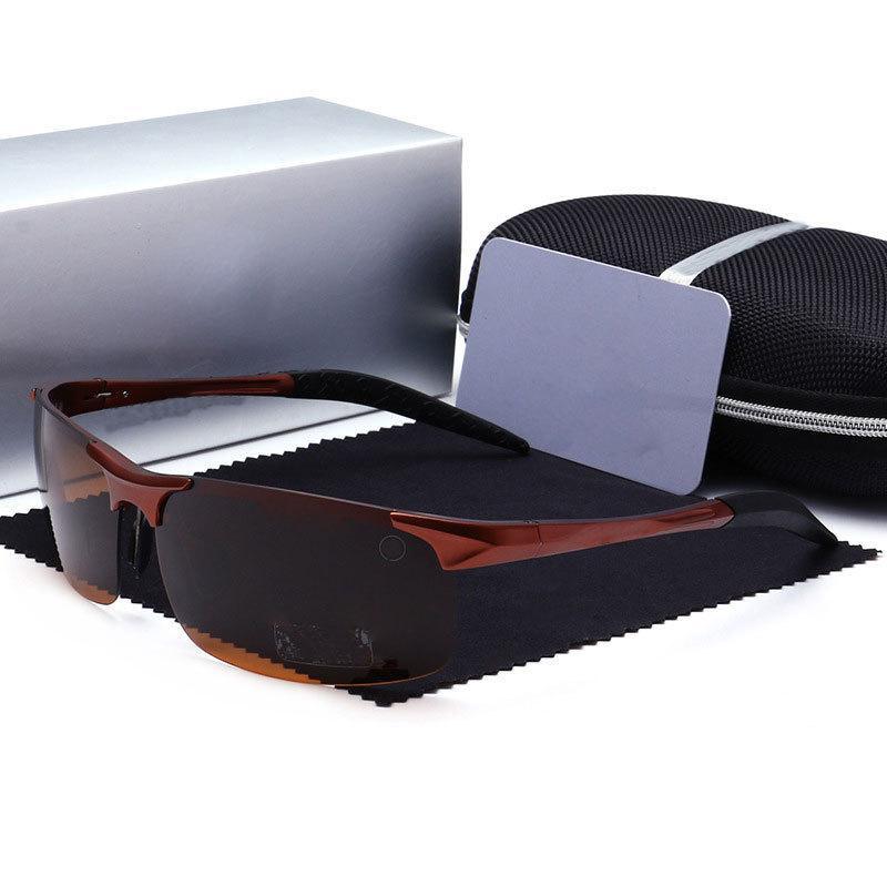 الأزياء الطيار uv400 مصمم النظارات الشمسية الرجال الفاخرة عالية الجودة عالية الوضوح الراقية الرجال طيار القيادة نظارات الصيد الشمسية مع صندوق