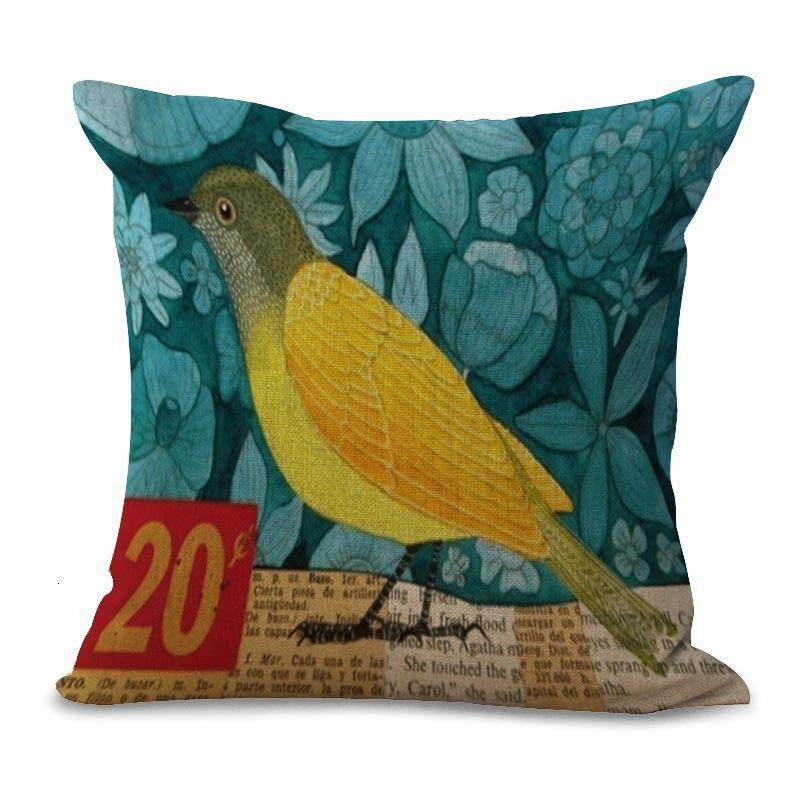 45*45 Retro Bird cushion cover sofa cushions office car Pillow cases Polyester pillowcase home decor pillow covers kd-0073