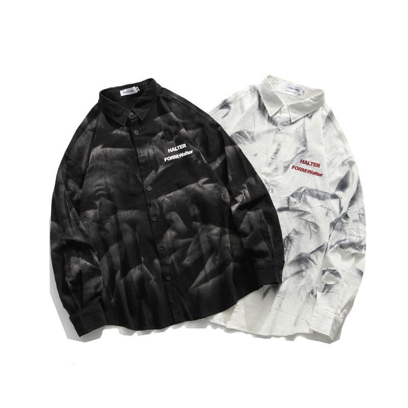 2021 Heyhhenry Tie-Dye Retro Сделайте длинные мужские рубашки Новая мода Trend Design Rul4