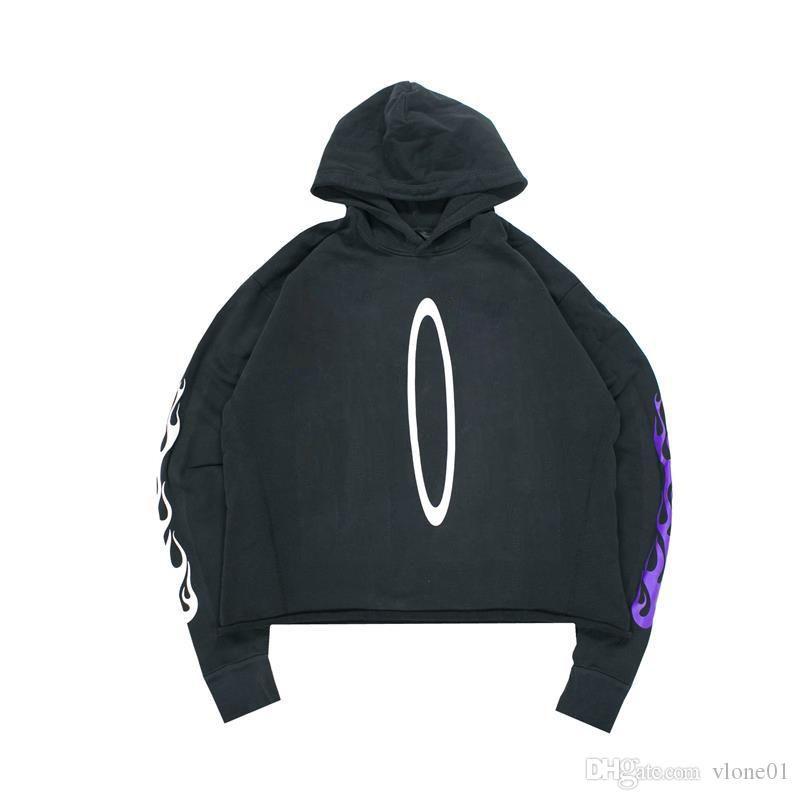 19SS Hoodie Hip Hop Hoodie Yüksek Kalite Siyah Erkek Stylist Hoodies Erkek Kadın Tişörtü Boyutu S-XL