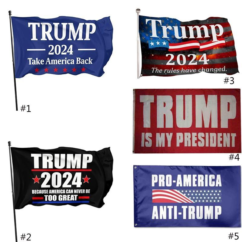 3 * 5ft 2024 ترامب العلم 90 * 150 سنتيمتر الولايات المتحدة الانتخابات الرئاسية العلم البوليستر المواد ترامب 2024 أعلام 5 نمط الشحن dhl الشحن HH21-56