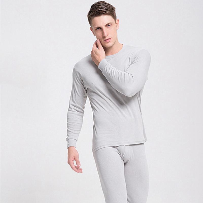 Homens Underwear Térmica Long Johns Homens Outono Inverno Tops + Calças 2 Piece Set Manter Quente Grosso Plus Size L-2XL Termica Homem 201124