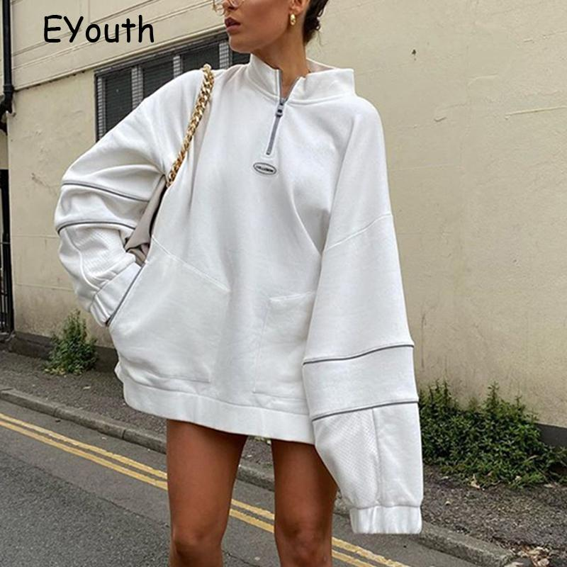 Streetwear Femmes Sweats à Hoodies Mode manches longues Turtleneck Sweatshirt Automne Casual Casual Sweat à capuche Pull