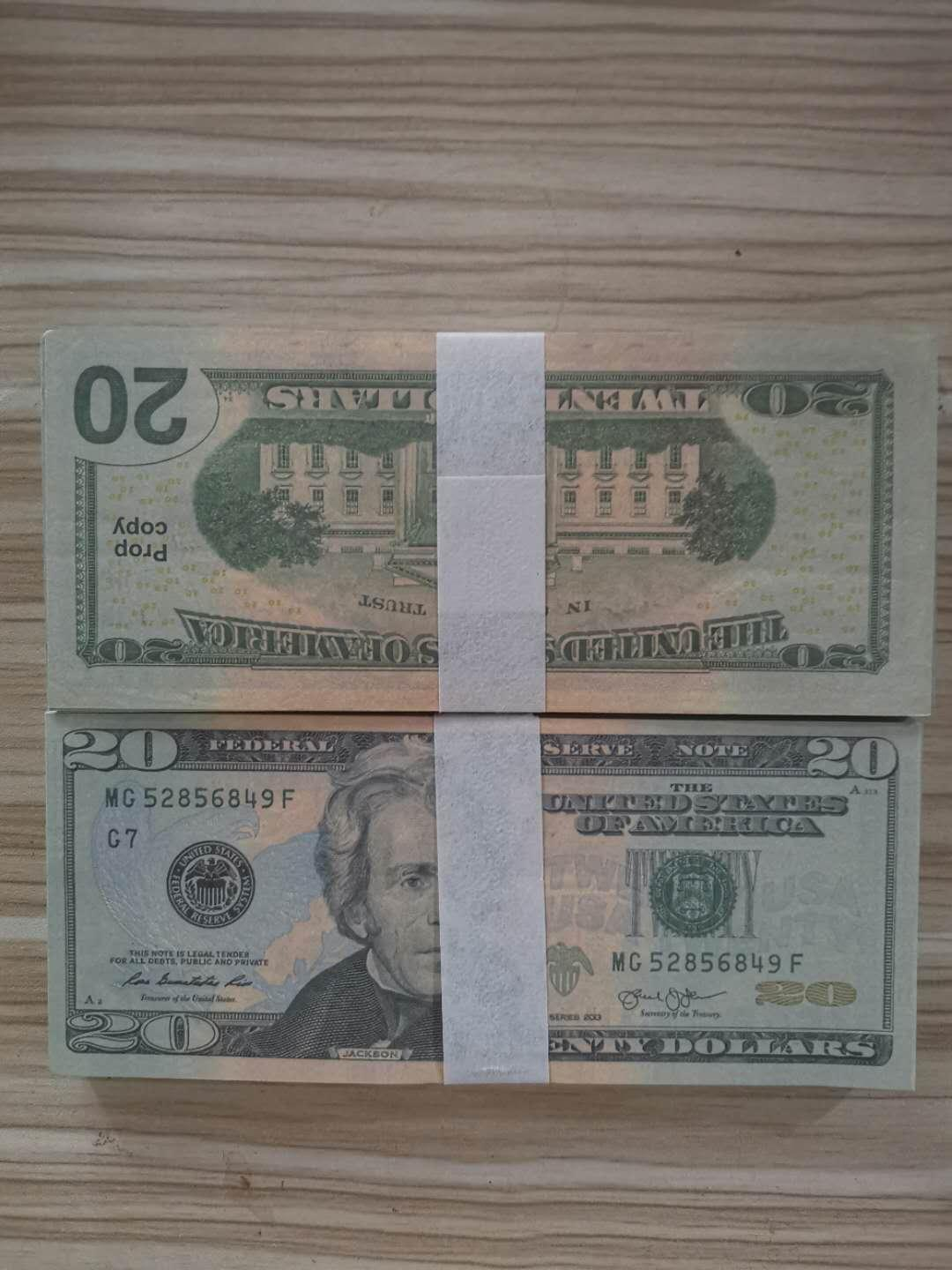 Teach banknotes to mimic the dollar Learning and Education Toys fake money paper Children Teaching aid set for USD