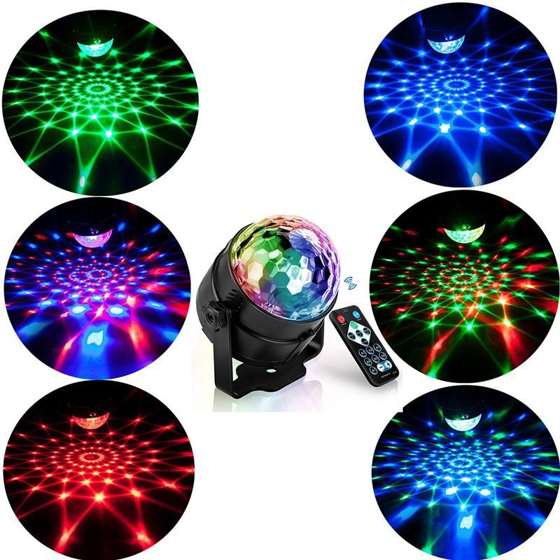 RVB LED FÊTE EFFECT DISCO BALL LE LUMIÈRE LUMIÈRE LUMIÈRE Lampe Lampe Lampe Lampe RGB Musique Musique KTV Festival Fête LED Lampe DJ Light
