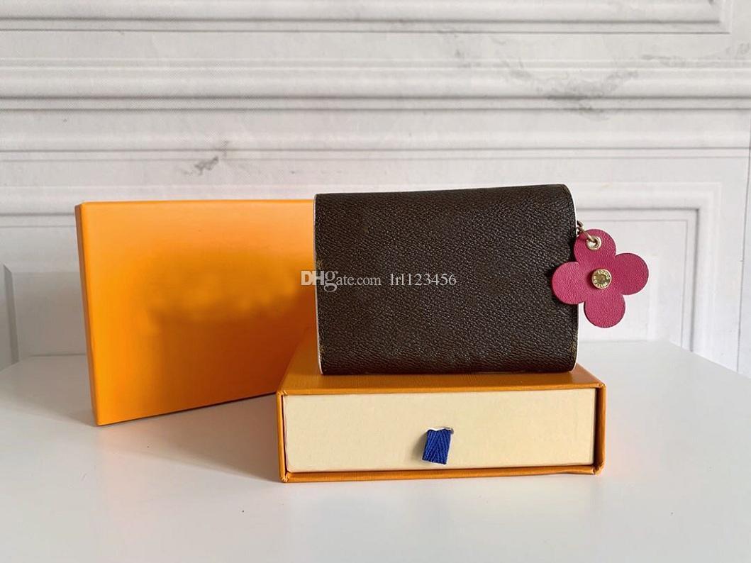 Держатель коробка оптом леди многоцветный дизайнер монеты короткий оригинальный красочный классический кошелек кошелек кошелек кошелек карта застежки на молнии карманная карта H OXFN