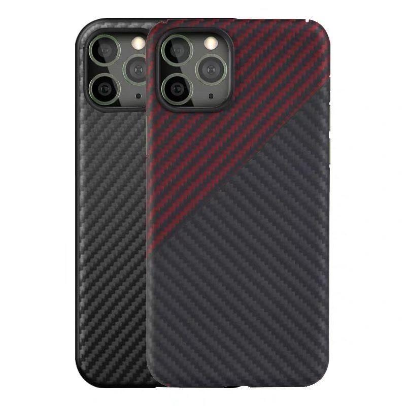 Fundas para teléfono de fibra de carbono para iPhone 12 Mini Pro Max Apple 11