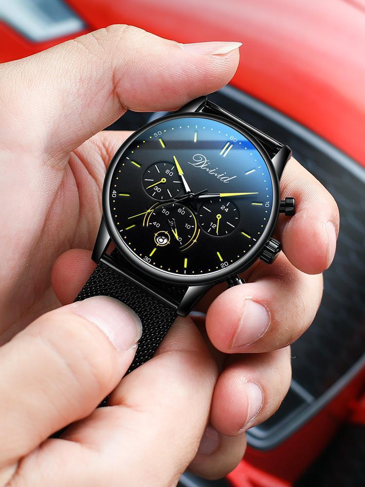 Europäische und amerikanische Art und Weise High-End Diz Uhrmens drei Augen und sechs Nadeln Multi-Funktions-Herren-Uhr Sport Fashion leuchtende Uhr S