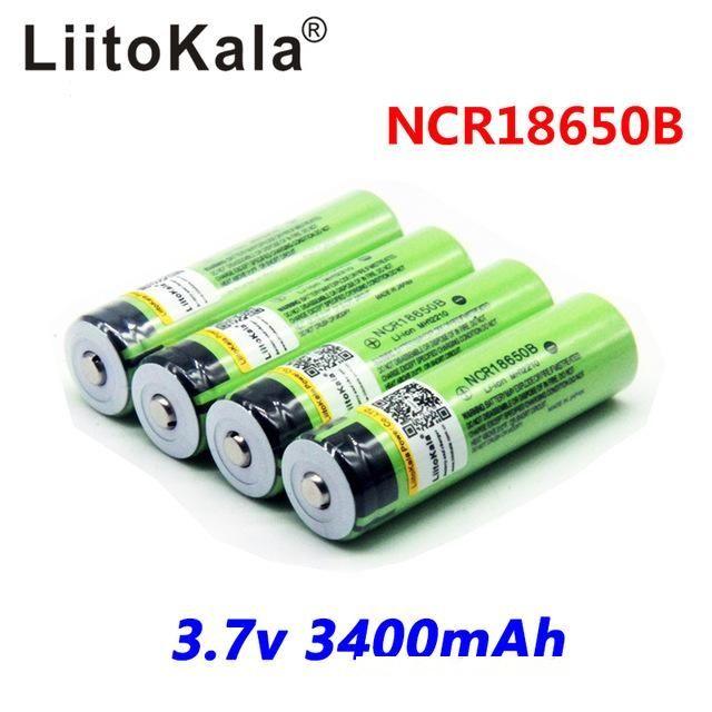 atteries Şarj edilebilir piller 2018 Orjinal LiitoKala 18650 3400 mAh PCB Pil 3.7 V Rechargebale Li-ion Pil 18650B18650 Proteg ...