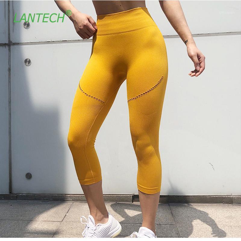 Lantech Kadınlar Yoga Tayt Spor Capri Pantolon Koşu Spor Gereçli Spor Kalıpları Kusursuz Spor Sıkıştırma Tayt Push1
