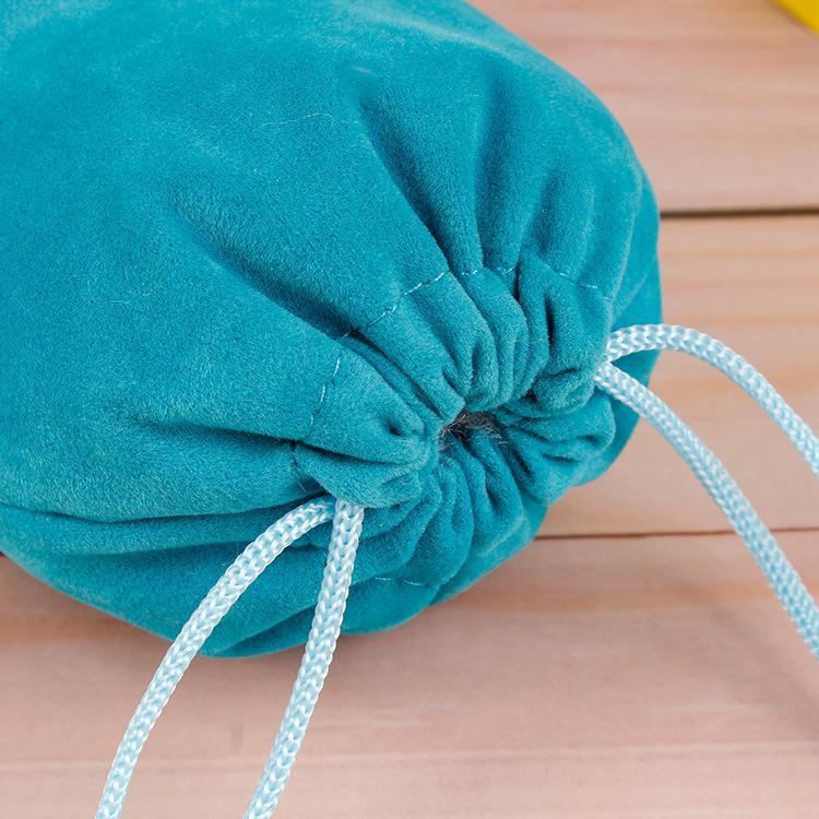 3 Tamaños de la bolsa de joyería Terciopelo de Navidad para regalo presente Ajuste azul Pulsera Collar LT Paquete Paquete Bolsas Whukq
