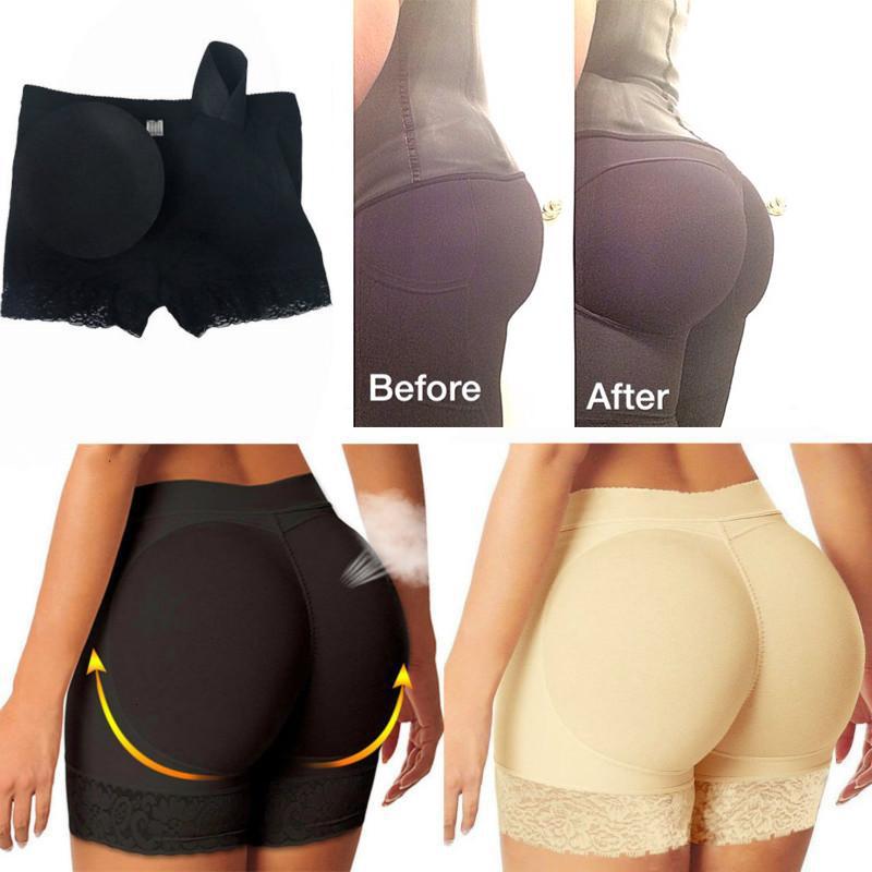 Faux cul femmes et amateur de hanche butin rembourré de sous-vêtements rembourrés corporel sans soudure de cornoir culotte boyshorts shaper