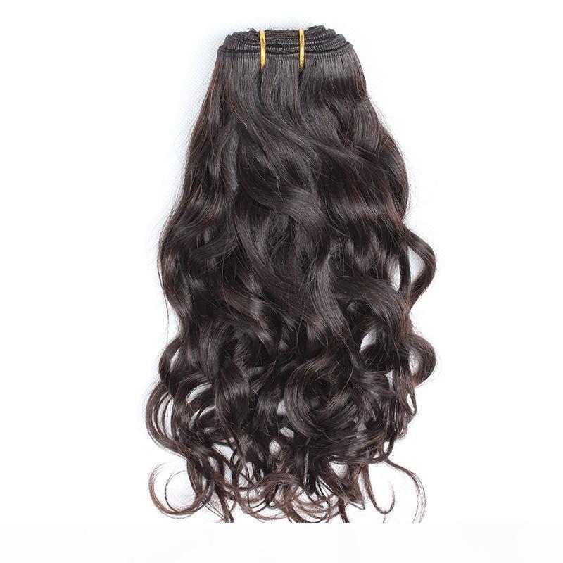 Cabello de Bella? Peña brasileña Weave Virgin Color natural Onda Natural Onda ondulada Extensiones de cabello Doble trama 8 ~ 30 pulgadas 2pcs Lote Envío gratis