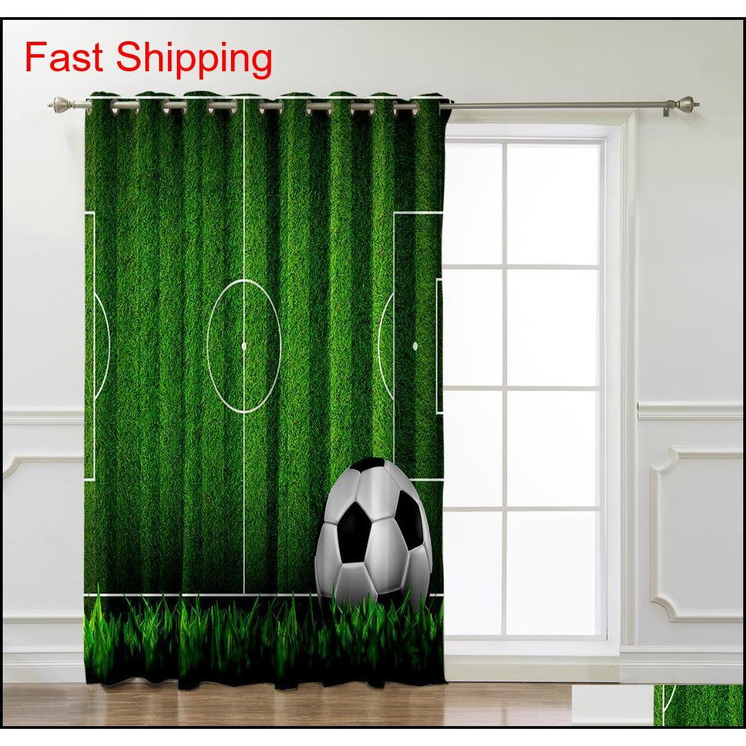 Soccer Football Game Competition In Gymnasium 3d Window Curtains For Living Room Bedroom Kitchen Cortina jllOVc carshop2006