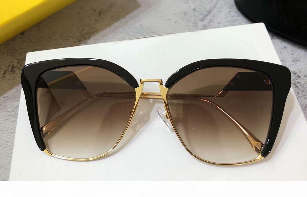 0365 S Cat Eye Sunglasses gold balck Grey Shaded Women Brand Designer sunglasses eyewear Shades Top Quality New With Box
