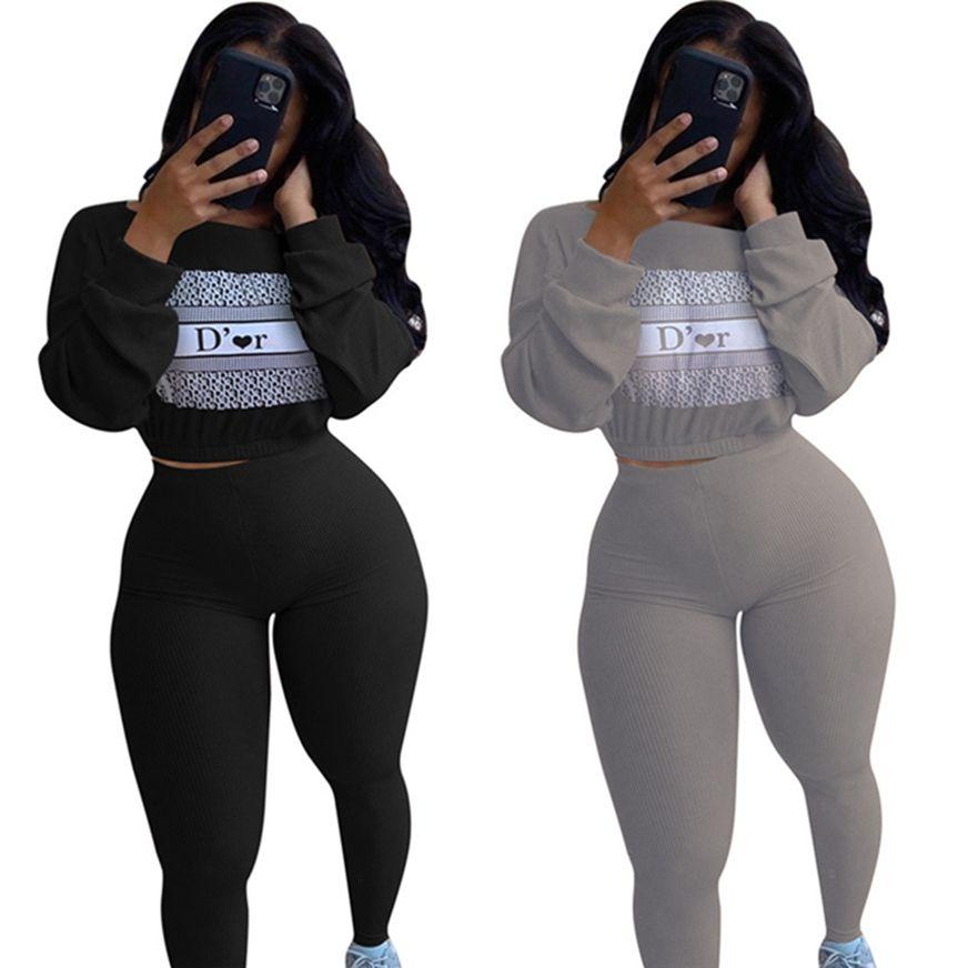 2 pezzi set joggers vestito donne tuta tute con cappuccio + leggings caduta inverno vestiti abiti abiti manica lunga manica sportiva swearsuits 4131