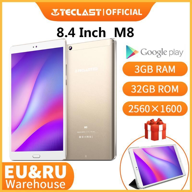 Tabletten Teclast M8 Android Tablet Netbook 3GB RAM 32GB ROM 8.4 Zoll 2560x1600 Quad-Kerntabletten Dual WiFi GPS Dual Camera