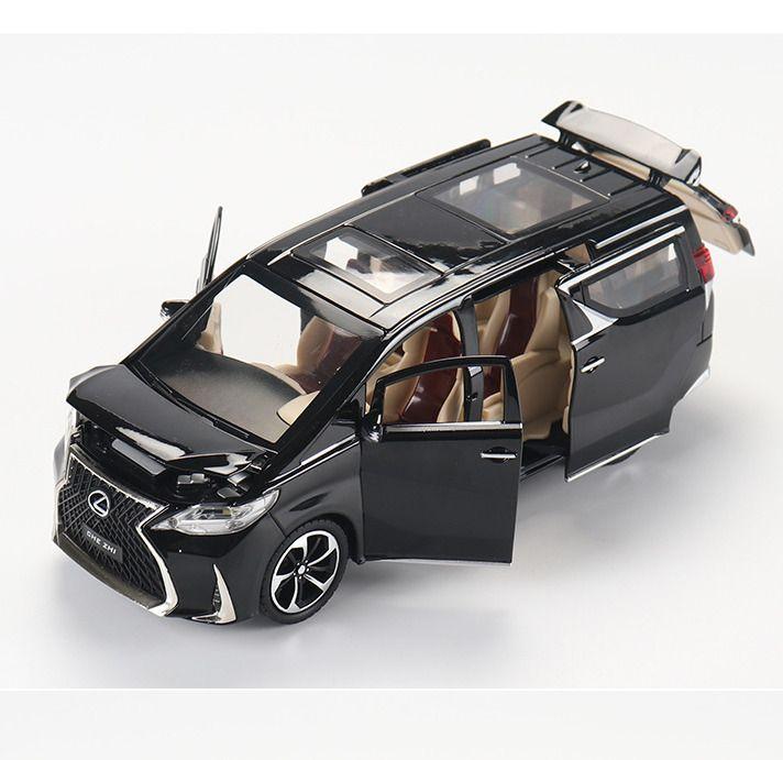 Oyuncak Lexus Simülasyon MPV 1:24 LM300H çocuk Alaşım Araba Modeli Dekorasyon Çocuğun Doğum Günü Noel Yeni Yıl Hediyesi Siyah Araba