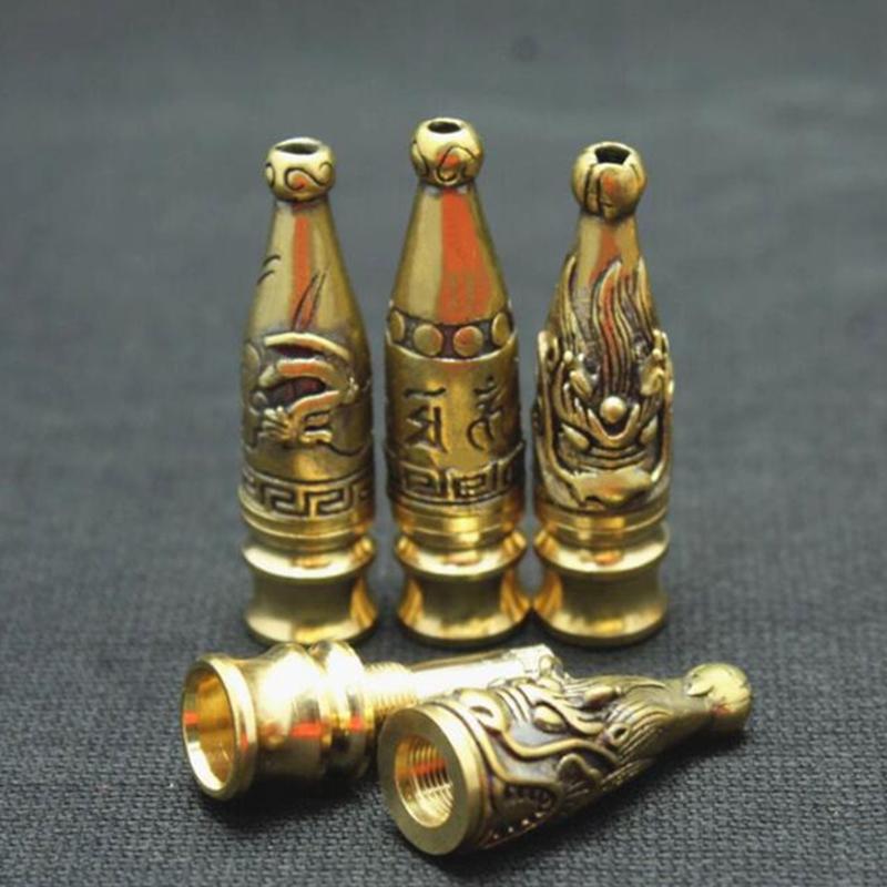 Последние Tube Портативный Съемный фильтр Tobacco Курильщик Handpipe инновационный дизайн Brass мундштук Держатель трубы высокого качества DHL