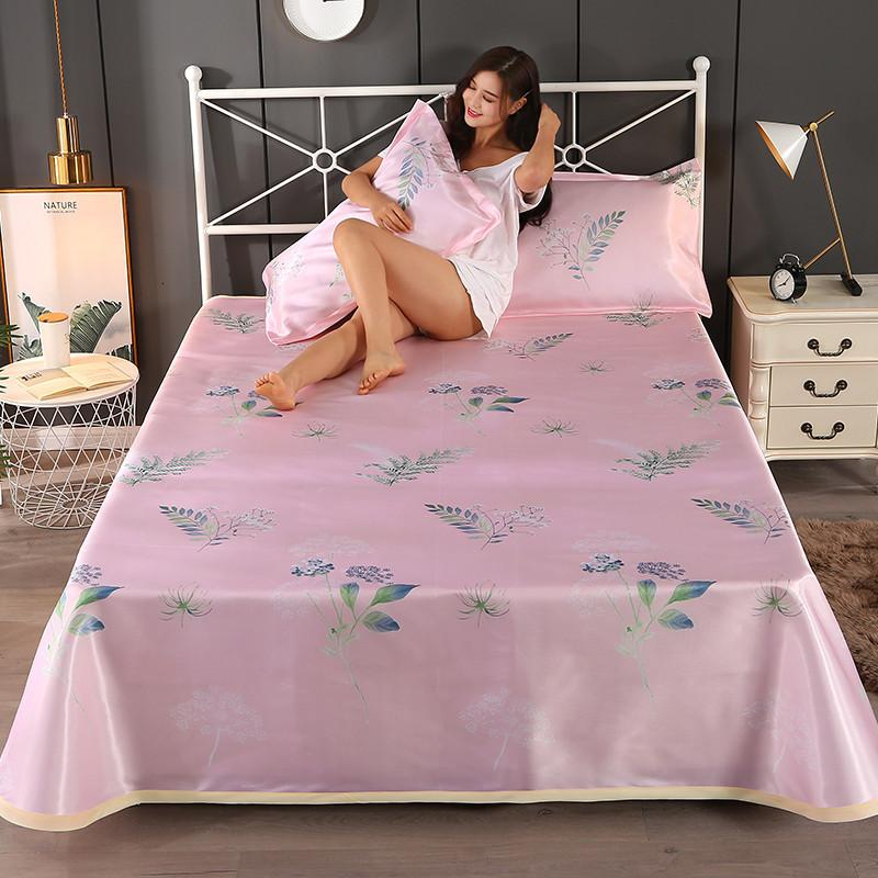 3PCS summer bed sheet ice silk bedding three-piece jacquard air conditioning seat detachable folding set Washable Cool Mat