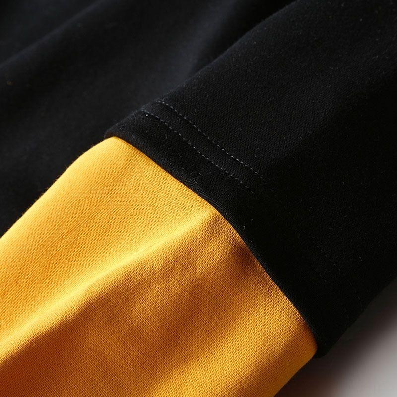 7udl 2020 Mens Sweatshirts Sweats à Sweats à capuche Hip Patchwork Pullwork Pullwover imprimé Hip Hop Molleton Lettre d'hiver Casual Hommes occasionnels