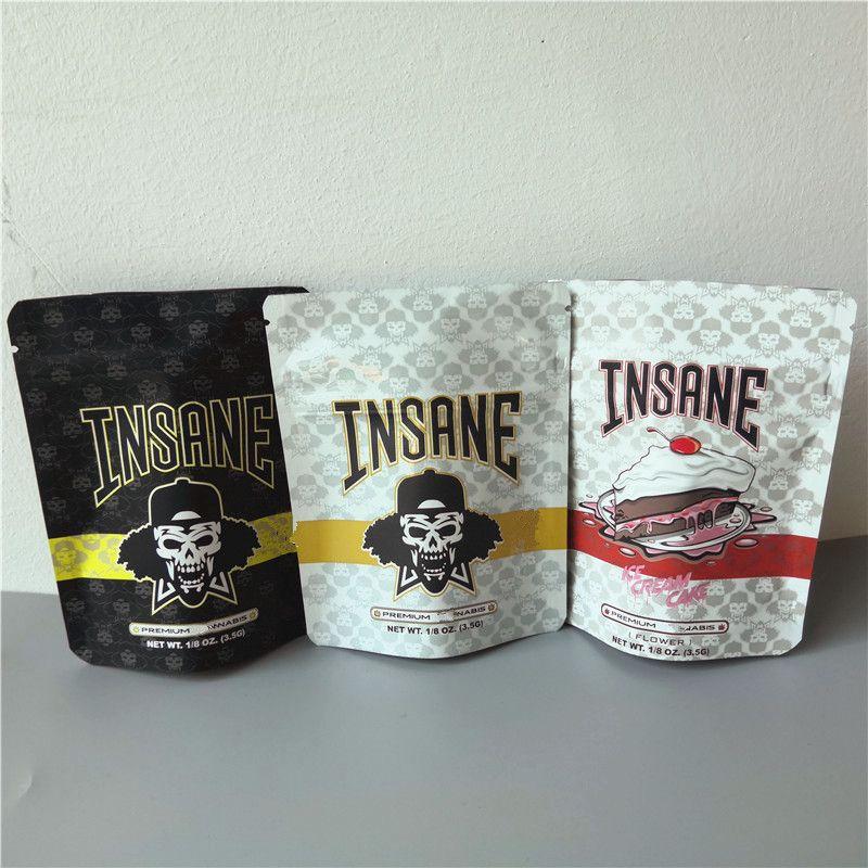 جديد وصول INSANE BAG 3.5G رائحة حقائب والدليل على DR.GreenThumb مجنون قسط الجاف عشب الآيس كريم كعكة مايلر حقيبة سحاب