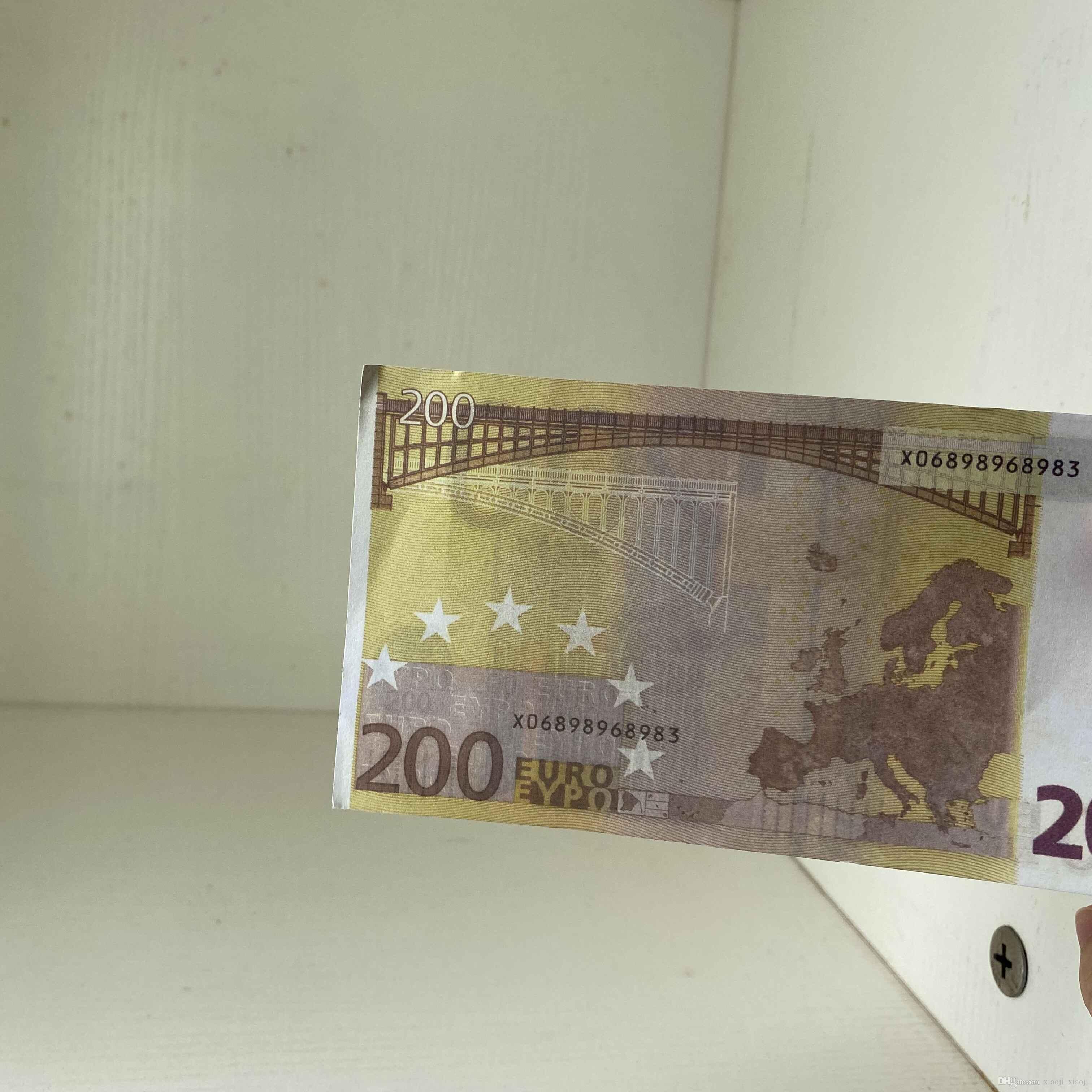 200 100 teile / paket realistische prop geld kopie banknoten gefaltete requisis sammlung spiel für papier banknote kinder berechnen euro 013 lbime