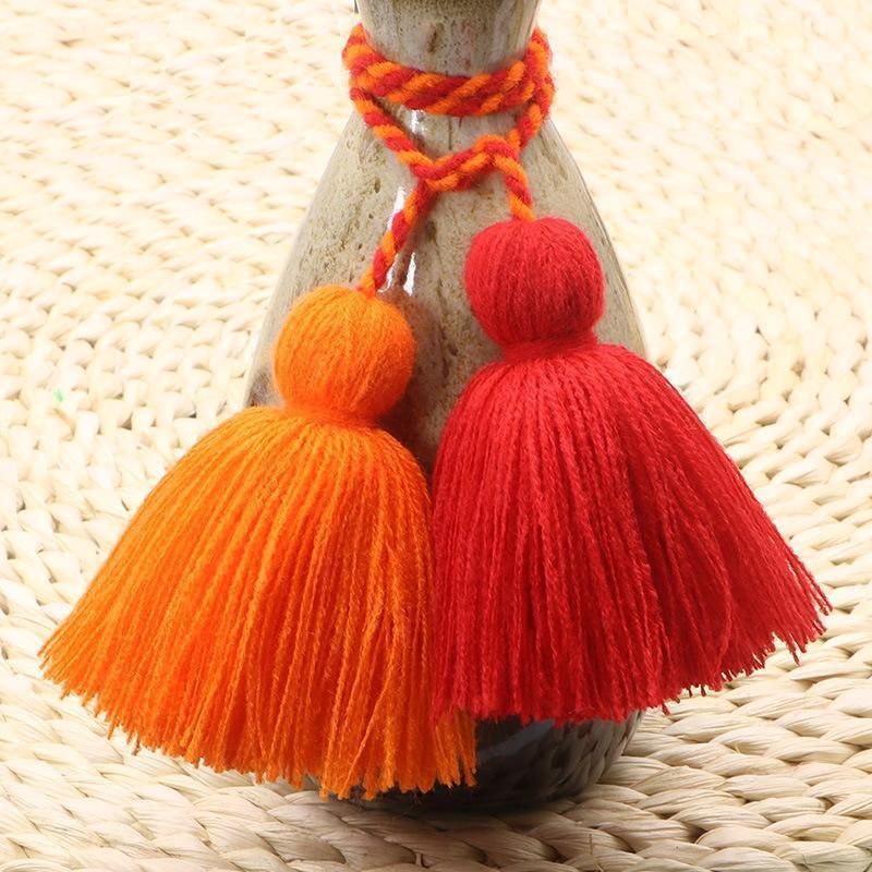 4pcs Charm Fat Tassel Fringe Pendentif Corde DIY Home Rideau Textile Artisanat Accessoires Accessoires Tassels Multicolore Frangel Multicolore Garni H Sqcdow