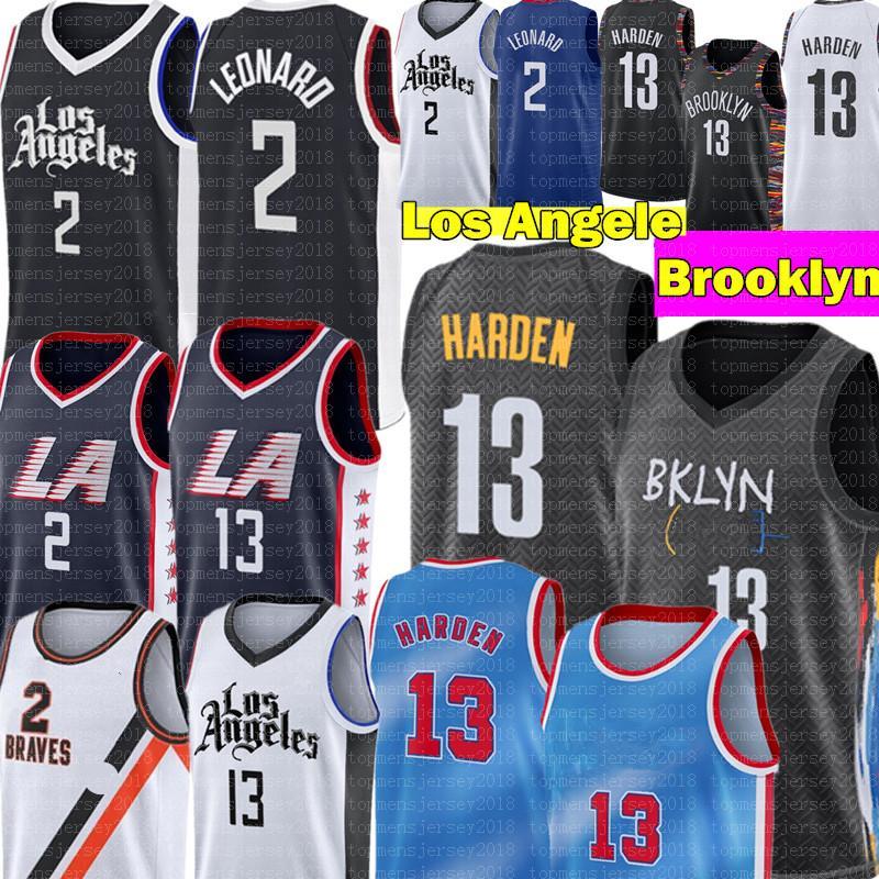 Harden Jersey 13 Harden Jersey Kawhi 2 New Leonard Jersey High Paul 13 George Jerseys 2020 2021 Mens Basketball Jerseys S-XXL