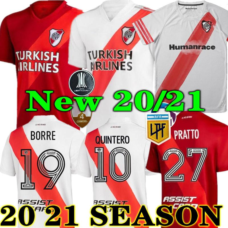 Top Calidad 20 21 River Plate Home Jersey Soccer Martínez Cavenaghi Scocco HumanRace 2020 2021 Placa Away Football Concept Shirt