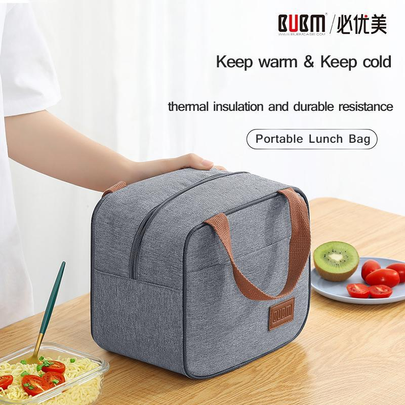 BUBM Portable Lunch Bag,New Thermal Insulated Lunch Box,Bento Bag Dinner Container School Storage Bags