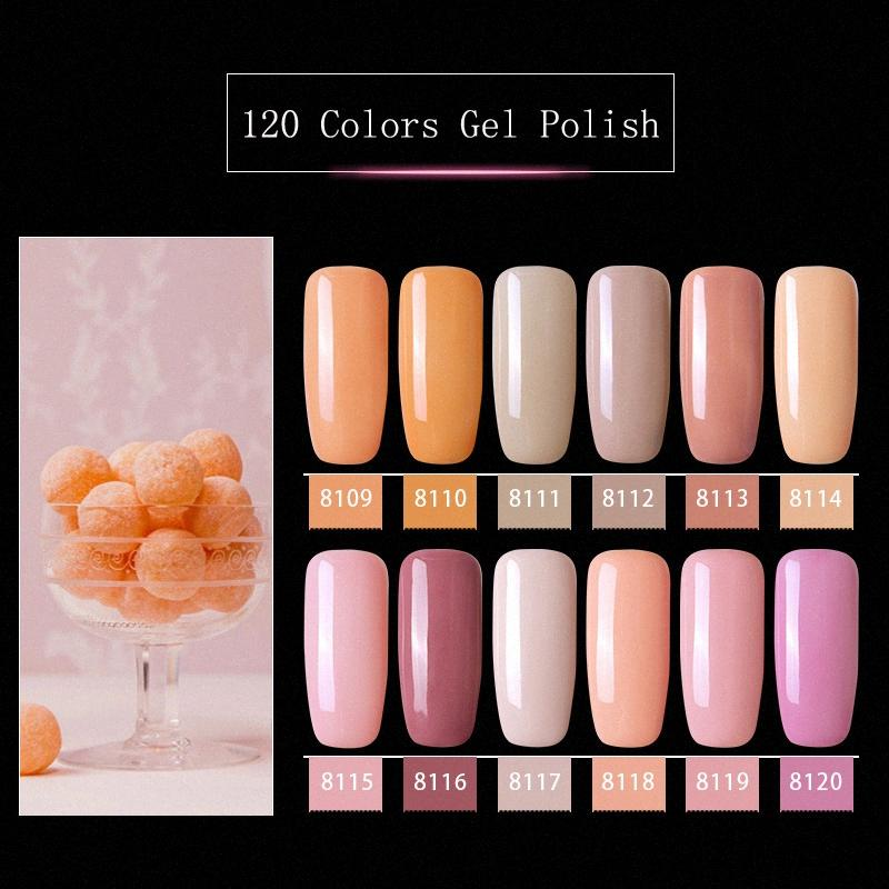 Modelones Rosa-Farben-Serie UV-Gel-Nagellack-Nagel-Kunst tränken weg vom LED-Hybrid-Lack Semi Permanent UV Emaille a9ug #