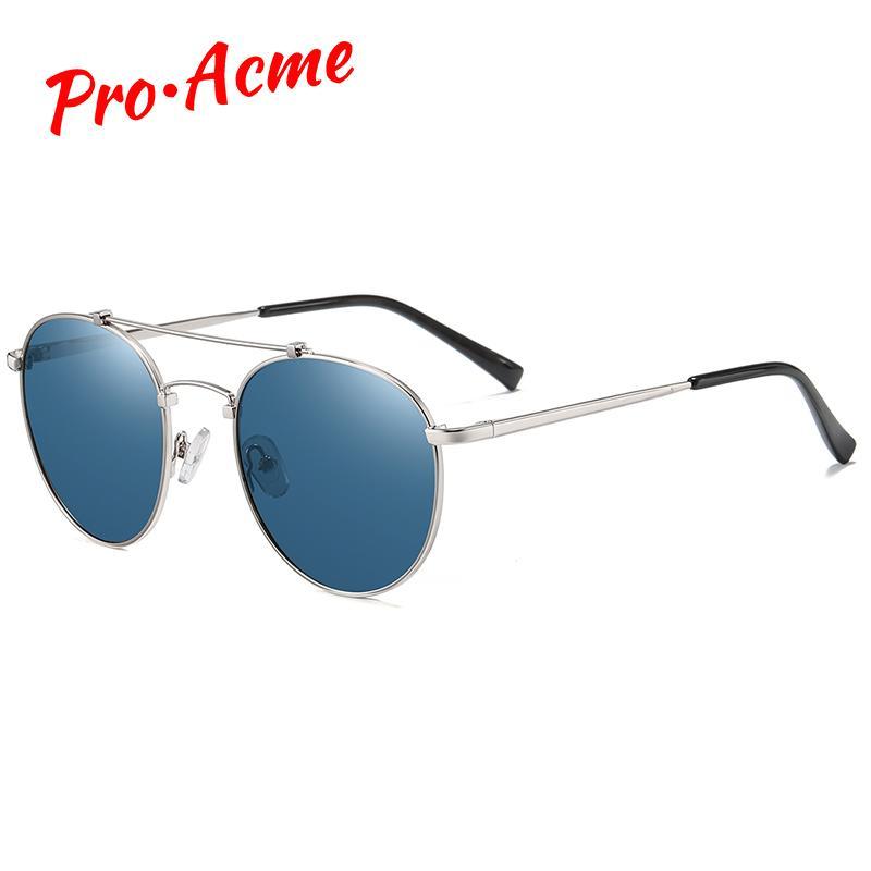 Pro Acme Marca Retro Rodada óculos polarizados Mulheres Luxury Designer Metal Frame Sun Glasses Shades por Homens lentes de modo PC1537
