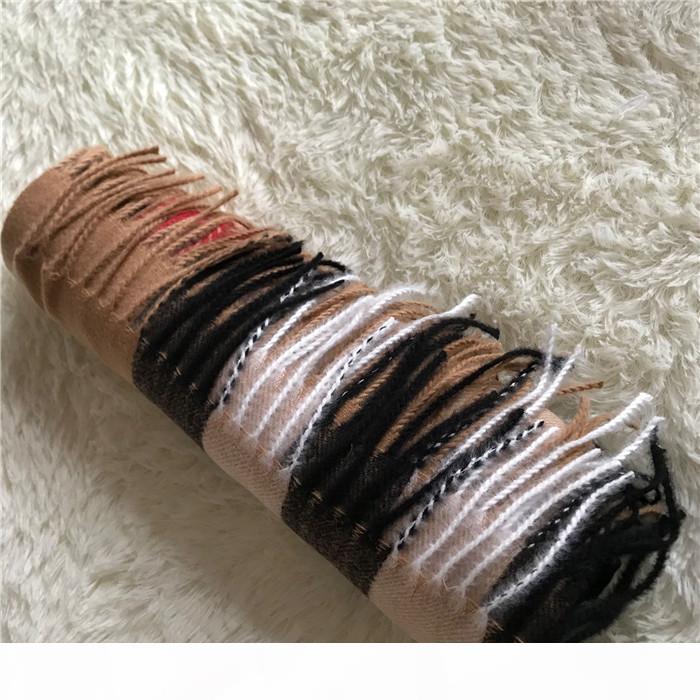 Classic Checked Impression Soft Quality Laine Automne Hiver Châle de luxe pour hommes et femmes 200 * 70cm