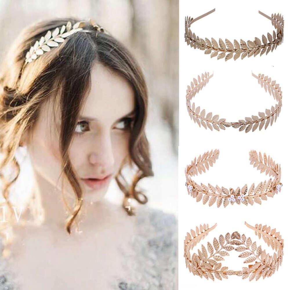 Diosa romana griega hoja de oliva fiesta de bodas corona de oro nupcial tiara pelo aro accesorios mujeres niña joyería diadema