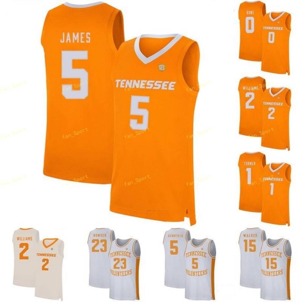 Tennessee Volunteers College Basketball 35 Yves Pons 4 Jacob Fleschman 5 Admiral James Brock Schofield 53 Bernard King Custom genähtes