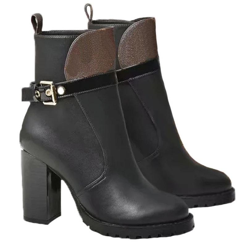 Moda sobre a cor do joelho que combina com a cabeça redonda mulheres longas botas feminina martin casual selvagem não-deslizamento de couro mulheres botas cowboy 11