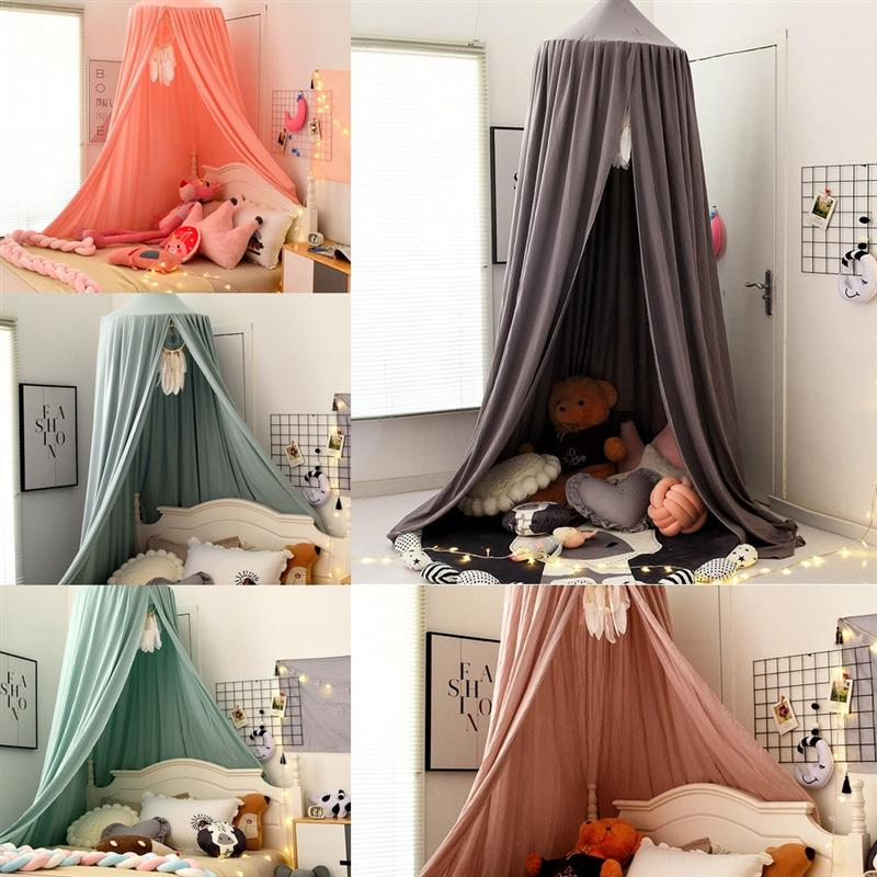 OFF KIDS Cama de bebê Canopy Bedcover Mosquito CottonMosquito Cortina Cama de Cúpula Mosquito Net Net Net Tent Girls Room Decoration