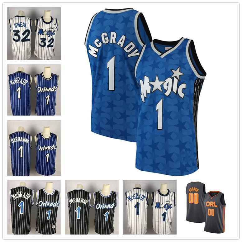 Vintage Orlando.Magic Tracy 1 McGrady Jesey Anfernee Penny 1 Hardaway Shaquille 32 O Neal Bamba Aaron Gordon Basketball Trikots