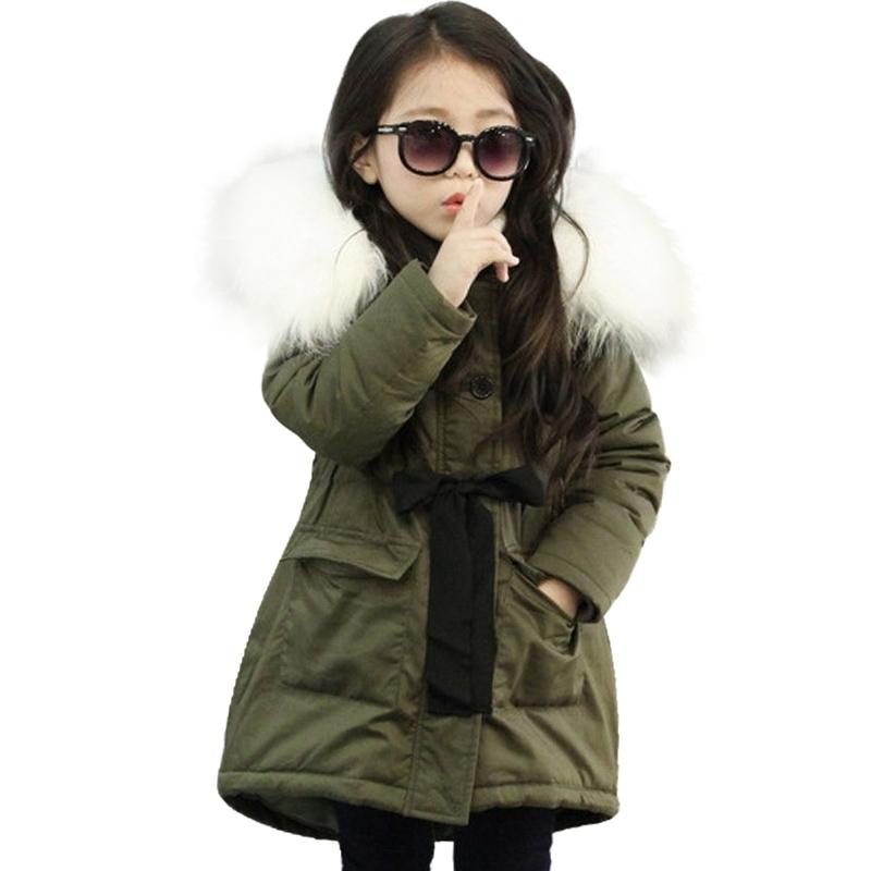 Baby Girl Warm Coat Down Jackets Children Clothing NEW Girl Winter Cotton-Padded Jacket Children's Fashion Coat Kids Outerwear Y200901