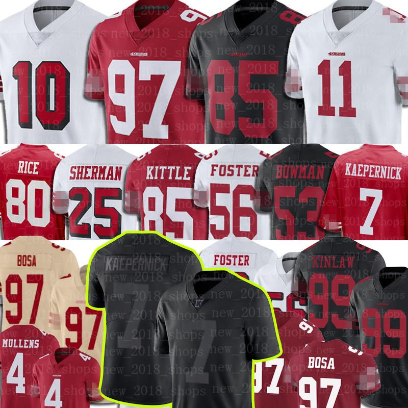 Deebo Samuel George Kittle Nick Bosa San Football Jerseys Francisco