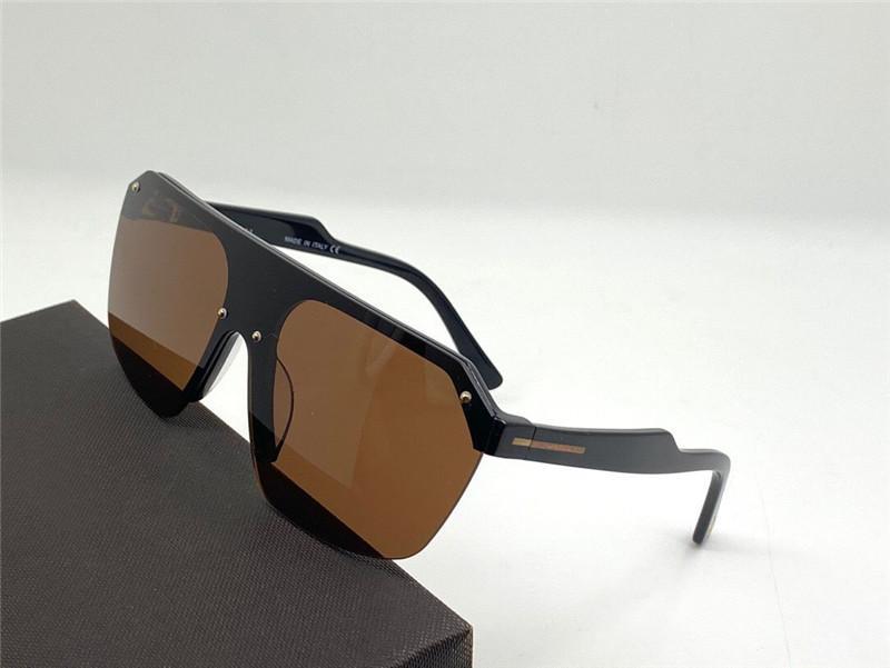 Nuevo diseño de moda las gafas de sol de alta calidad de estilo popular y generoso 0797 sin marco de una sola pieza marco de la placa de la lente UV400 gafas al aire libre